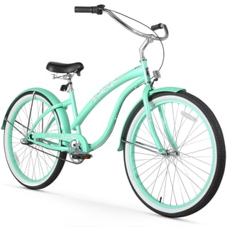 "26"" Firmstrong Bella Classic Three Speed Women's Beach Cruiser Bicycle, Mint Green"