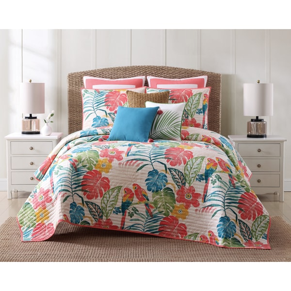 Oceanfront Resort Coco Paradise Printed Cotton 3 Piece Quilt Set. Opens flyout.