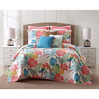 Oceanfront Resort Coco Paradise Printed Cotton 3 Piece Quilt Set