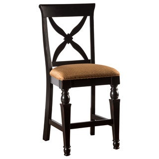 Hillsdale Furniture Northern Heights Black Honey/Cherry Wood Non-swivel Counter Stool (Set of 2)