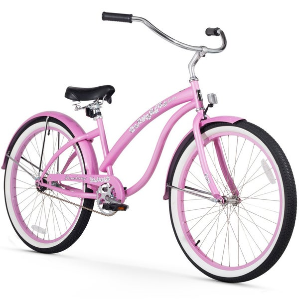 """26"""" Firmstrong Bella Classic  Single Speed Women's Beach Cruiser Bicycle, Pink"""