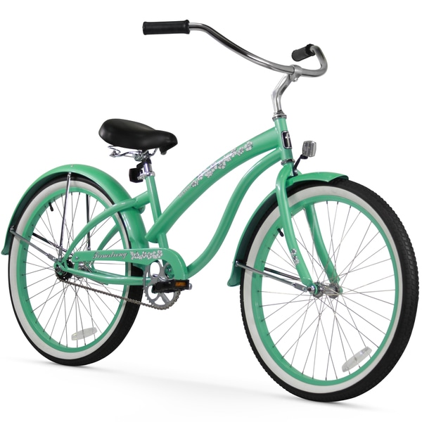 "26"" Firmstrong Bella Classic Single Speed Women's Beach Cruiser Bicycle, Mint Green"
