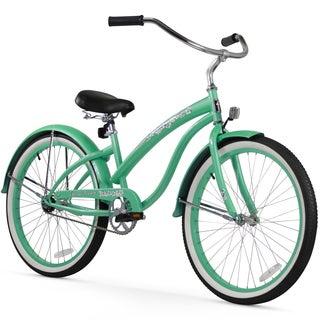 "26"" Firmstrong Bella Classic Single Speed Women's Beach Cruiser Bicycle, Mint Green"
