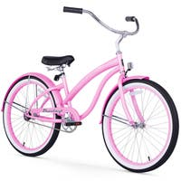 "24"" Firmstrong Bella Classic Single Speed Women's Beach Cruiser Bicycle, Pink"