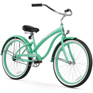 "24"" Firmstrong Bella Classic Single Speed Women's Beach Cruiser Bicycle, Mint Green"