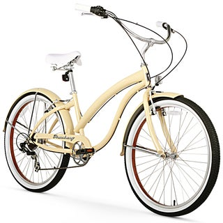 "26"" Firmstrong Bella Fashionista Seven Speed Women's Beach Cruiser Bicycle, Vanilla"