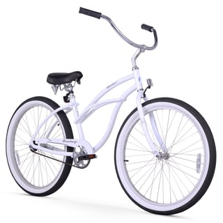 "26"" Firmstrong Aluminum Frame Urban Lady Alloy Single Speed Women's Beach Cruiser Bike, White"
