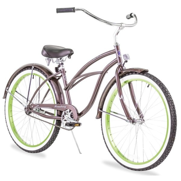 "26"" Firmstrong Urban Lady Boutique Single Speed Women's Beach Cruiser Bike, Metallic Charcoal"