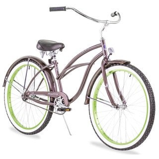 "26"" Firmstrong Urban Lady Boutique Single Speed Women's Beach Cruiser Bike, Metallic Charcoal"