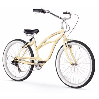 "26"" Firmstrong Urban Lady Seven Speed Women's Beach Cruiser Bike, Vanilla"