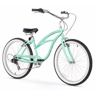 "26"" Firmstrong Urban Lady Seven Speed Women's Beach Cruiser Bike, Mint Green"