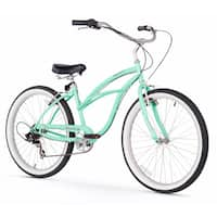 """26"""" Firmstrong Urban Lady Seven Speed Women's Beach Cruiser Bike, Mint Green"""