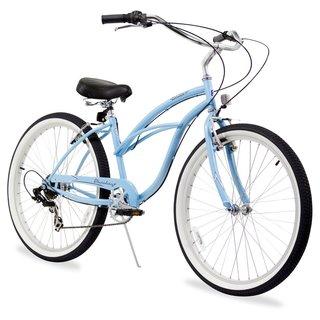 """26"""" Firmstrong Urban Lady Seven Speed Women's Beach Cruiser Bike, Baby Blue"""
