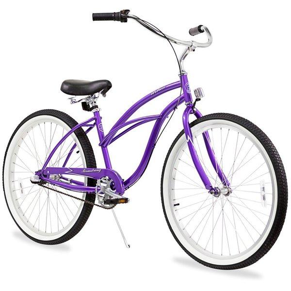 "26"" Firmstrong Urban Lady Three Speed Women's Beach Cruiser Bike, Purple"