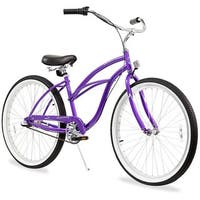 "26"" Firmstrong Urban Lady Three Speed Women's Beach Cruiser Bike, Purple"