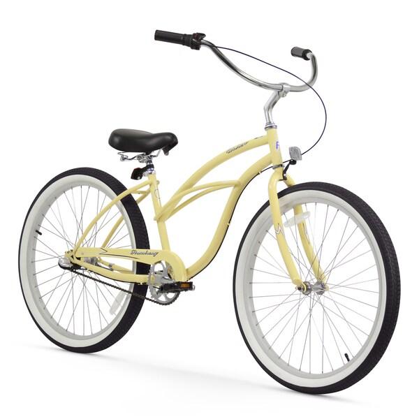 "26"" Firmstrong Urban Lady Three Speed Women's Beach Cruiser Bike, Vanilla"