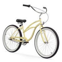 "26"" Firmstrong Urban Lady Three Speed Women's Beach Cruiser Bike, Vanilla"
