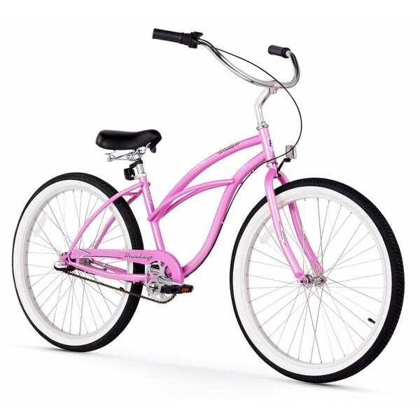 "26"" Firmstrong Urban Lady Three Speed Women's Beach Cruiser Bike, Pink"