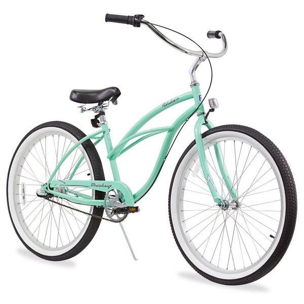"""26"""" Firmstrong Urban Lady Three Speed Women's Beach Cruiser Bike, Mint Green"""
