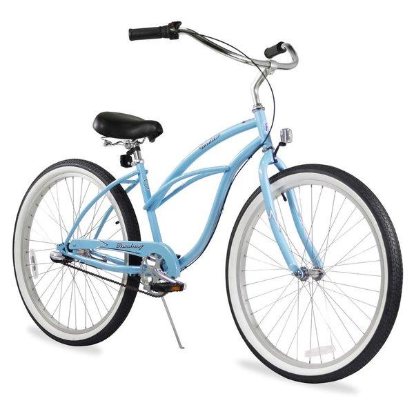 "26"" Firmstrong Urban Lady Three Speed Women's Beach Cruiser Bike, Baby Blue"