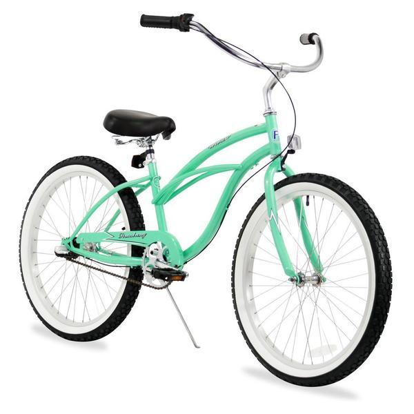"""24"""" Firmstrong Urban Lady Three Speed Women's Beach Cruiser Bike, Mint Green"""