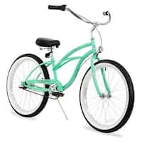 "24"" Firmstrong Urban Lady Three Speed Women's Beach Cruiser Bike, Mint Green"