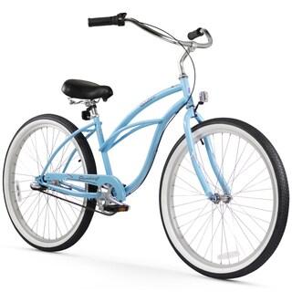 "24"" Firmstrong Urban Lady Three Speed Women's Beach Cruiser Bike, Baby Blue"