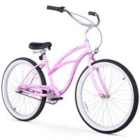 "24"" Firmstrong Urban Lady Three Speed Women's Beach Cruiser Bike, Pink"