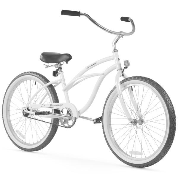 "24"" Firmstrong Urban Lady Single Speed Women's Beach Cruiser Bike, White"
