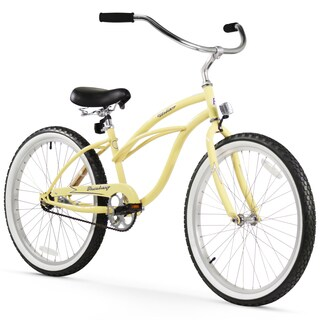 "24"" Firmstrong Urban Lady Single Speed Women's Beach Cruiser Bike, Vanilla"
