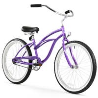 "24"" Firmstrong Urban Lady Single Speed Women's Beach Cruiser Bike, Purple"