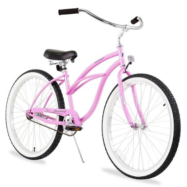 "24"" Firmstrong Urban Lady Single Speed Women's Beach Cruiser Bike, Pink"