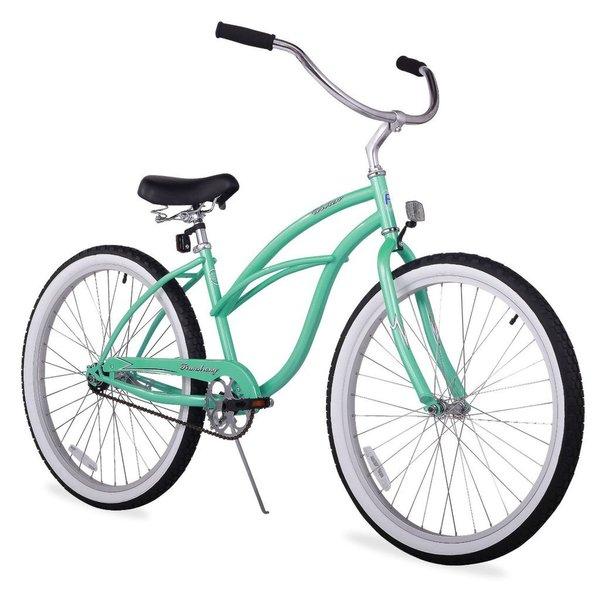 """24"""" Firmstrong Urban Lady Single Speed Women's Beach Cruiser Bike, Mint Green"""