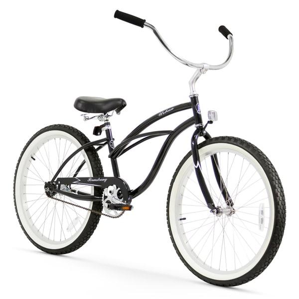 "24"" Firmstrong Urban Lady Single Speed Women's Beach Cruiser Bike, Black"