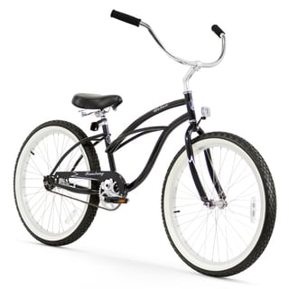 "24"" Firmstrong Urban Lady Single Speed Women's Beach Cruiser Bike, Black"