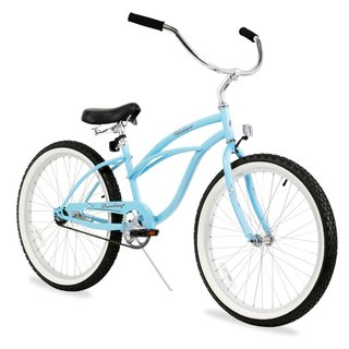 "24"" Firmstrong Urban Lady Single Speed Women's Beach Cruiser Bike, Baby Blue"