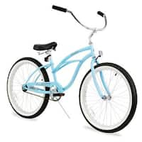 "24"" Firmstrong Urban Lady Single Speed Women's Beach Cruiser Bike, Baby Blue"