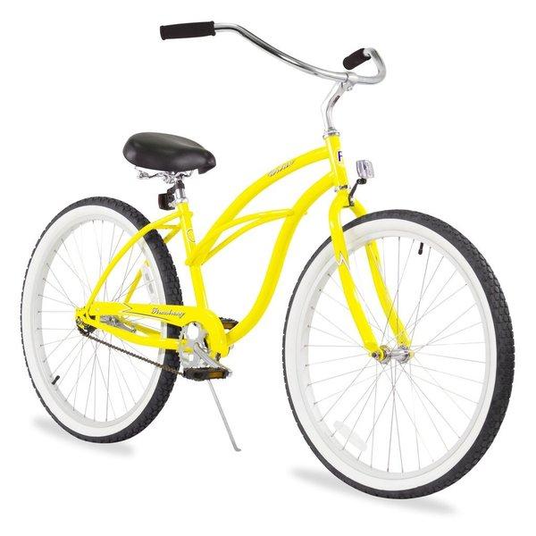 "26"" Firmstrong Urban Lady Single Speed Women's Beach Cruiser Bike, Yellow"