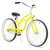 "26"" Firmstrong Urban Lady Single Speed Women's Beach Cruiser Bike, Yellow"