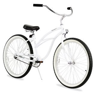 "26"" Firmstrong Urban Lady Single Speed Women's Beach Cruiser Bike, White"