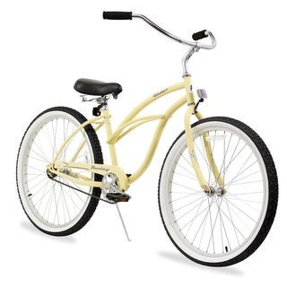 "26"" Firmstrong Urban Lady Single Speed Women's Beach Cruiser Bike, Vanilla"