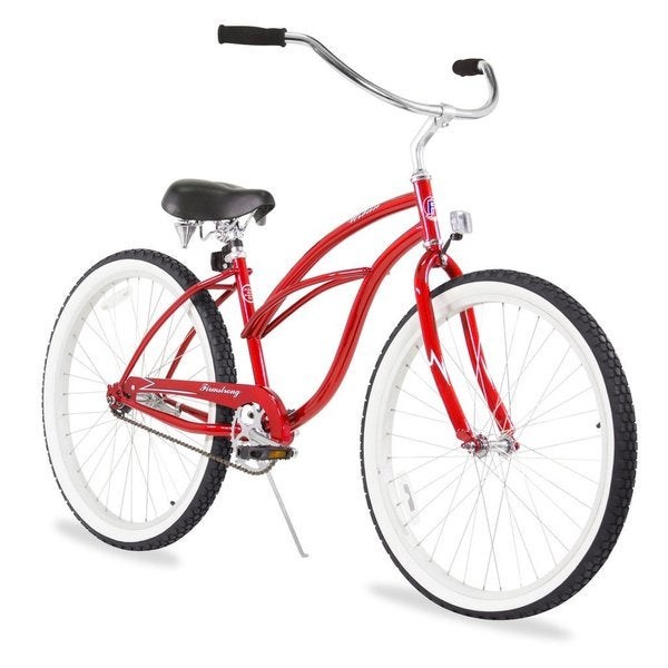 "26"" Firmstrong Urban Lady Single Speed Women's Beach Cruiser Bike, Red"