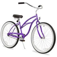 "26"" Firmstrong Urban Lady Single Speed Women's Beach Cruiser Bike, Purple"