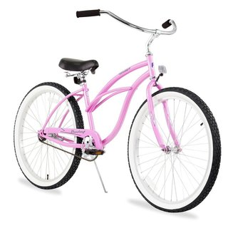 "26"" Firmstrong Urban Lady Single Speed Women's Beach Cruiser Bike, Pink"
