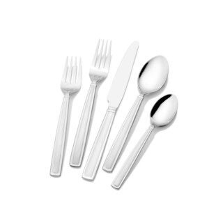 Mikasa Gourmet Basics Dolcina Frost 45-piece Stainless Steel Flatware Set