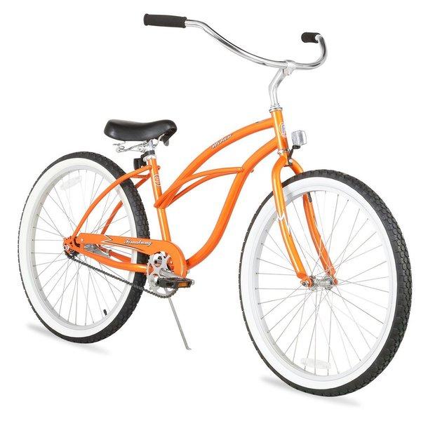 "26"" Firmstrong Urban Lady Single Speed Women's Beach Cruiser Bike, Orange"