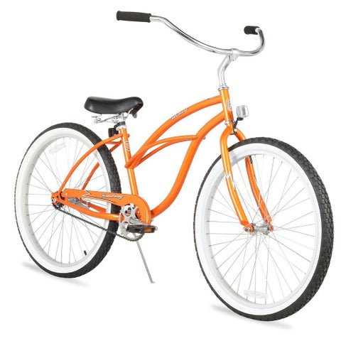 "26"" Firmstrong Urban Lady Single Speed Women's Beach Cruiser Bike, Orange"