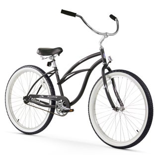 "26"" Firmstrong Urban Lady Single Speed Women's Beach Cruiser Bike, Matte Black"