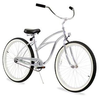 "26"" Firmstrong Urban Lady Single Speed Women's Beach Cruiser Bike, Chrome"