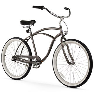 "26"" Firmstrong Urban Man Seven Speed Beach Cruiser Bicycle, Matte Grey"